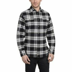 NWOT Black and white plaid long sleeve flannel